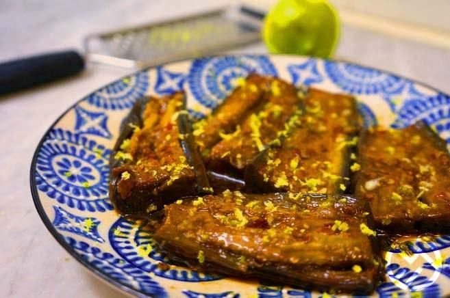 receta de berenjenas al estilo indio