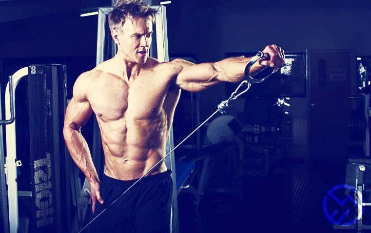 ejercicios de hombros con mancuernas en casa y en el gimnasio