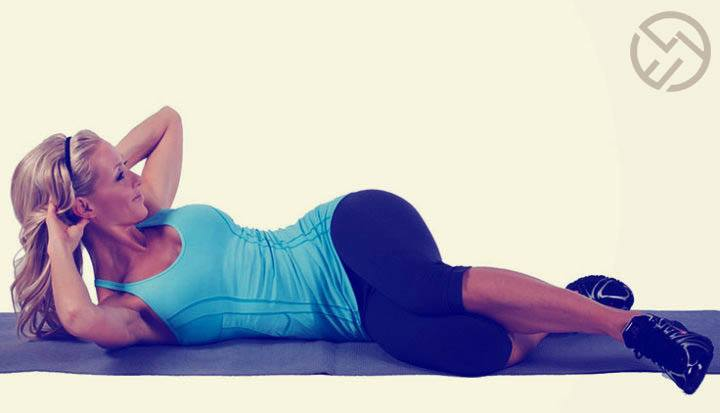 como hacer las abdominales oblicuas