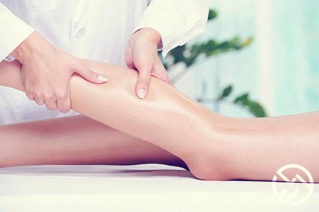 masajear cada pierna después del ejercicio