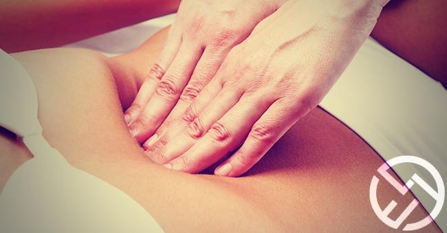 masaje en el abdomen japones