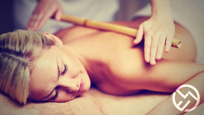 como hacer masaje con cañas bambú
