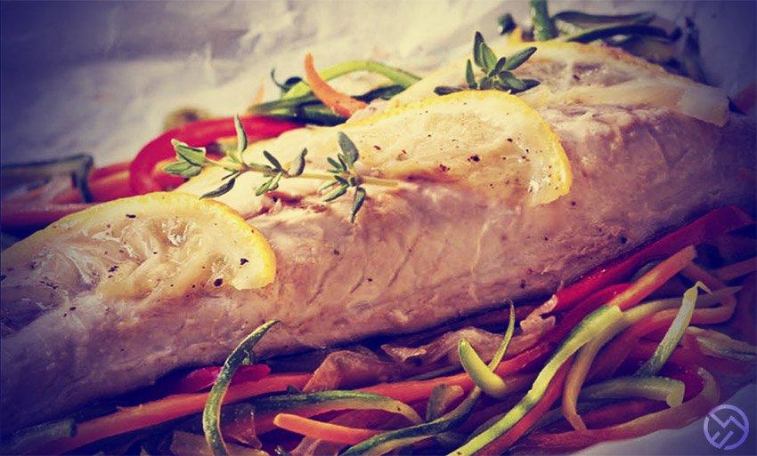 caballa al horno con verduras