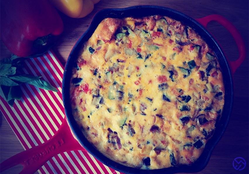 "Tortilla o ""Frittata"" de Huevo con Vegetales"