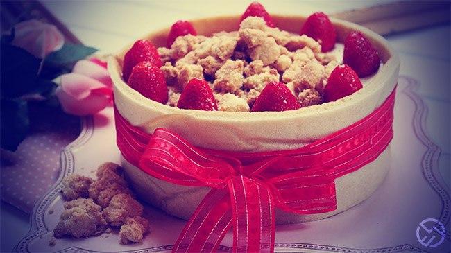 Crumble de almendras y fresas