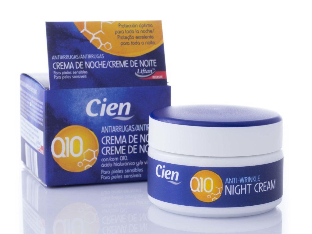 Crema antienvejecimiento Q10 Cien Noche