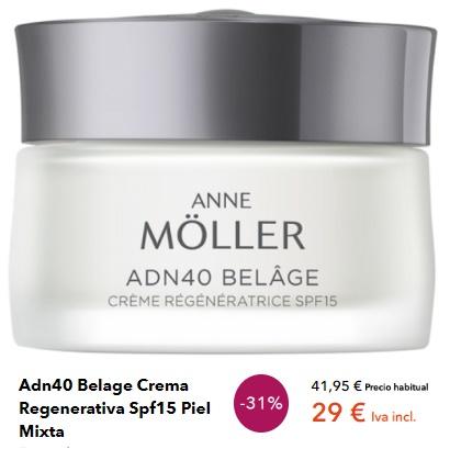 Crema Facial de Anne Moller Pieles Mixtas