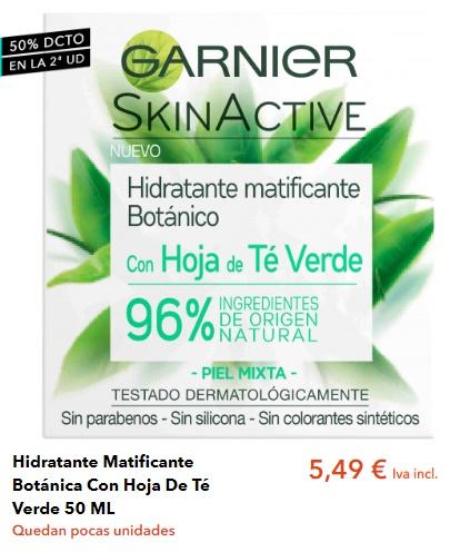 Crema Facial Garnier Te Verde Piel Grasa