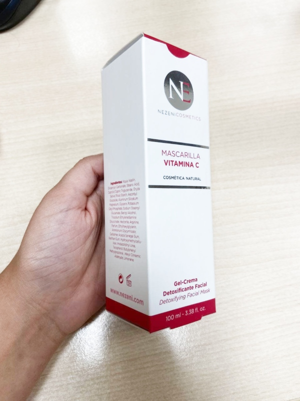 Análisis completo de la Mascarilla facial Vitamina C de Nezeni Cosmetics